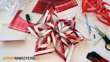 Jak zrobić gwiazdę 3D z papieru na Boże Narodzenie?