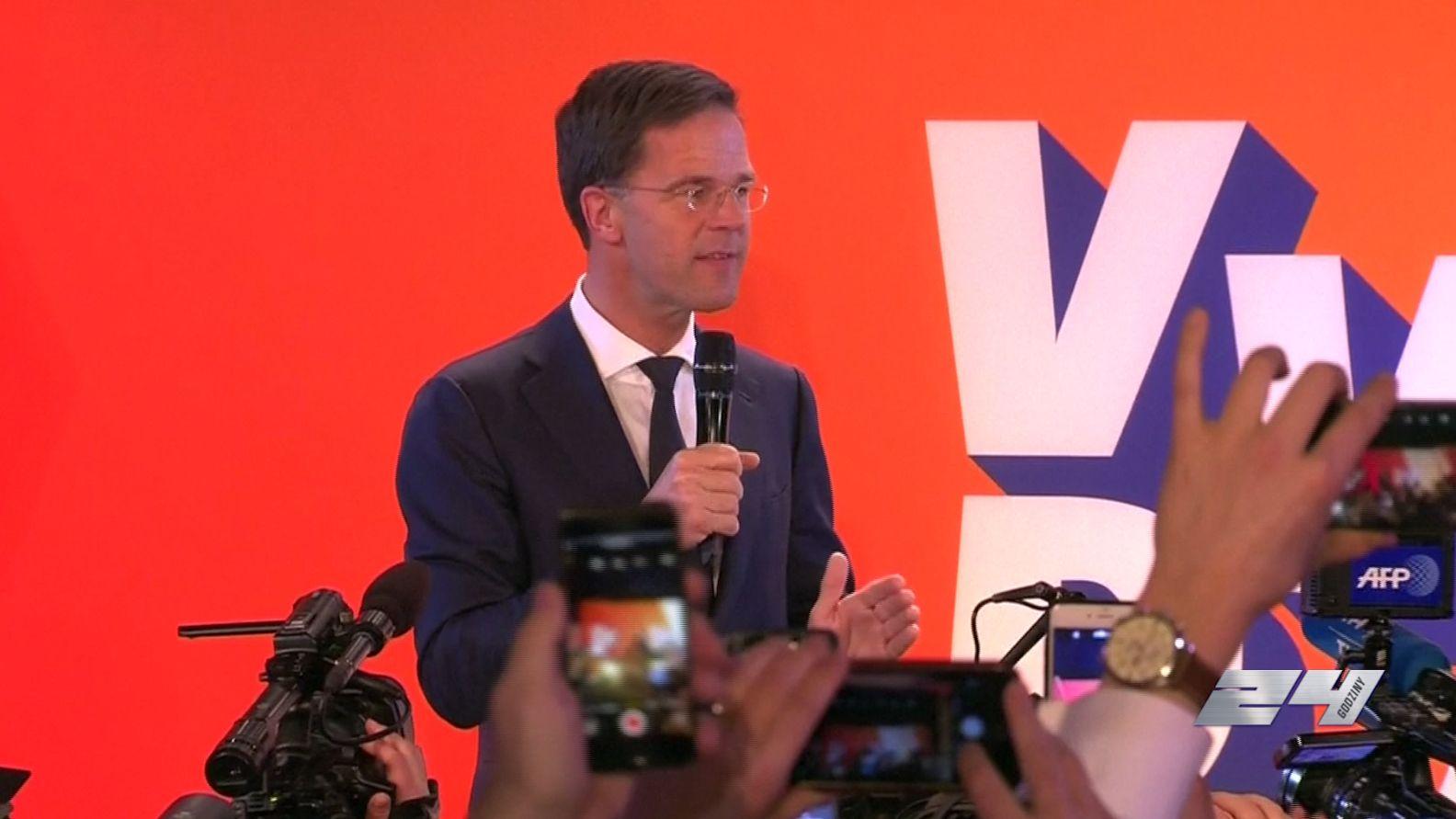 Holendrzy wybrali! Premier Mark Rutte świętuje wynik