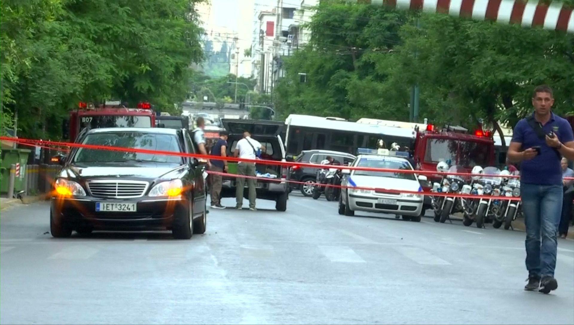 Były premier Grecji ranny w eksplozji