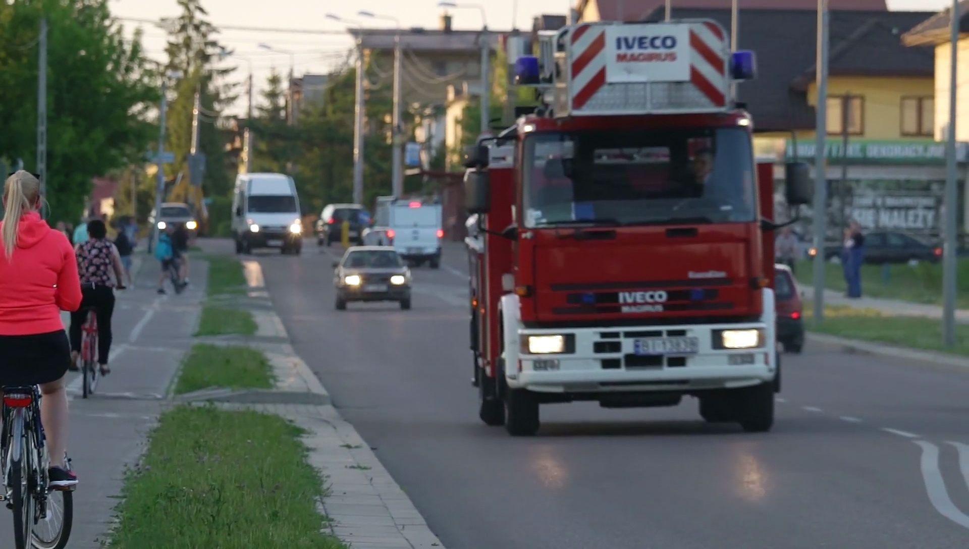 Białystok: dwóch strażaków zginęło w pożarze
