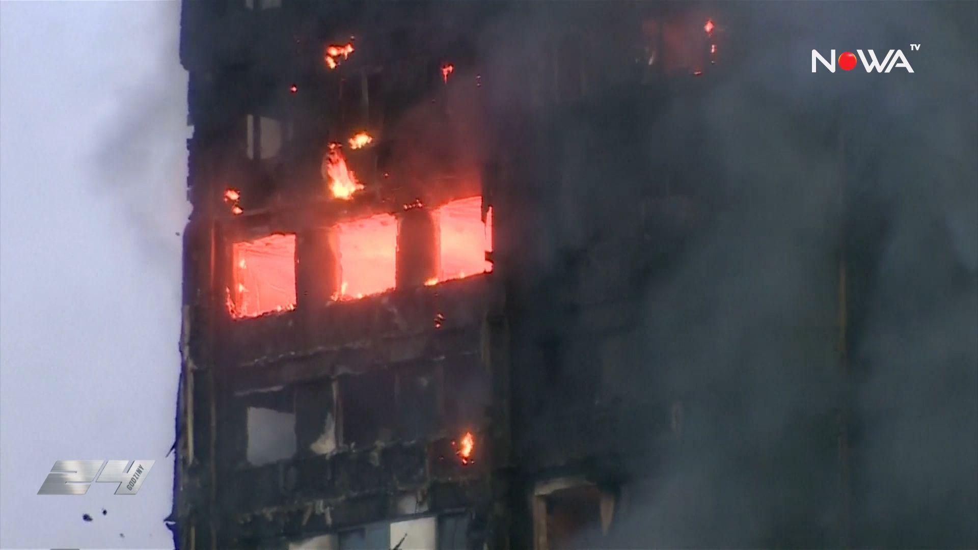 Protesty po pożarze w Londynie