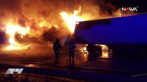 Wypadek i pożar na A2. Droga w kierunku Warszawy była zablokowana