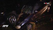 Fala błota uderzyła w auta, pasażerowie zostali zakleszczeni