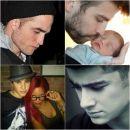 Shakira, Rihanna, Robert Pattinson, Kristen Stewart, Justin Bieber, One Direction, Zayn Malik