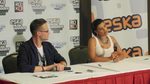 Konferencja prasowa z Nelly Furtado w Szczecinie