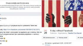 Facebook: twoja grupa zniknęła 26.03.2017? To Dzień bez Facebooka!