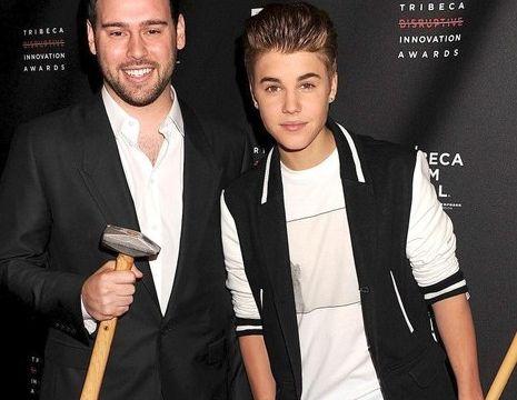 Justin Bieber i Scooter Braun