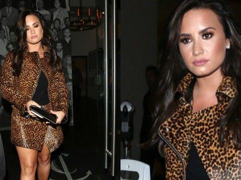 Demi Lovato w panterce - znów jako brunetka