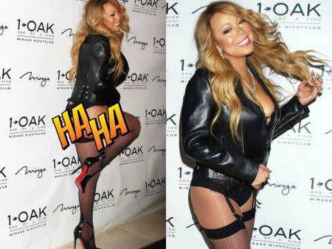 Mariah Carey w pończochach