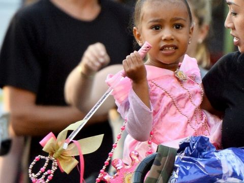 3. urodziny North West; Kim Kardashian, Kanye West, Kourtney Kardashian, Scott Disick