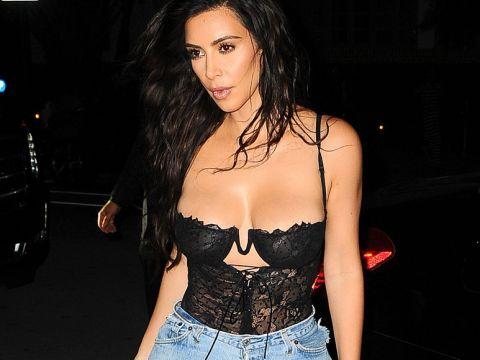 Kim Kardashian i Kanye West na kolacji