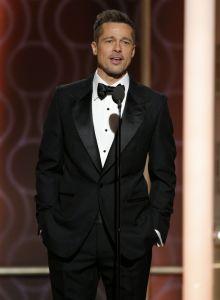 Złote Globy 2017 Brad Pitt
