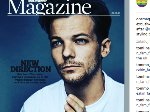Louis Tomlinson w The Observer