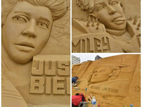 Gwiazdy zostały wyrzeźbione ... w piasku!