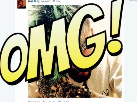Zayn Malik zielone włosy