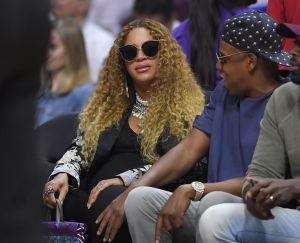 Beyonce i Jay Z na meczu