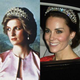 Księżna Diana i księżna Kate Middleton