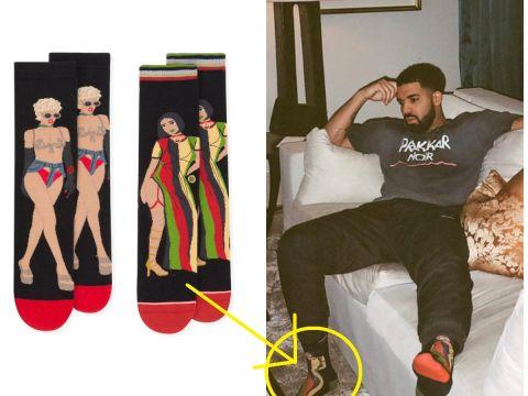 Drake w skarpetkach od Rihanny