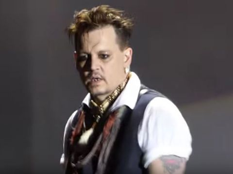 Johnny Depp z zespołem The Hollywood Vampires