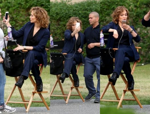 Jennifer Lopez na planie serialu Shades Of Blue