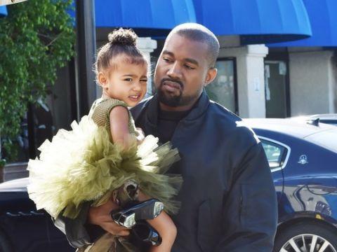 Kanye West z córką North West zdjęcia