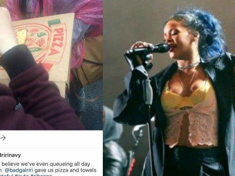 Rihanna kupiła fanom pizzę