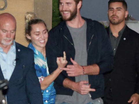 Miley Cyrus i Liam Hemsworth na lunchu