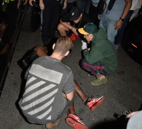 Justin Bieber i potrącony fotograf
