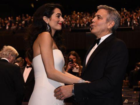 George Clooney i Amal Clooney na gali Cezary 2017