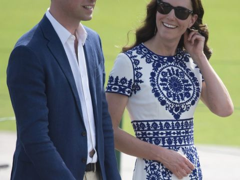 Księżna Kate Middleton i Książę William w Taj Mahal