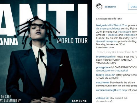 Rihanna koncert w Polsce 2016