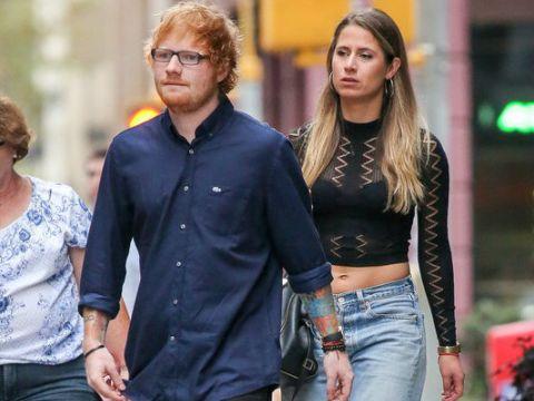 Ed Sheeran z blondynką