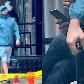 Leonardo DiCaprio z e-papierosem