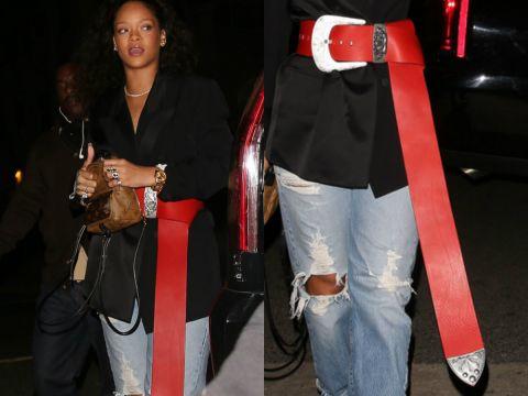 Rihanna w czerwonym pasku