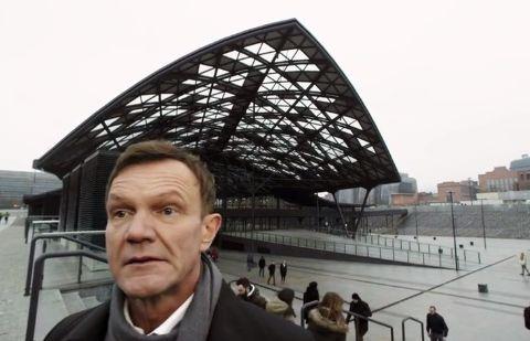 Cezary Pazura reklamuje dworzec Łódź Fabryczna