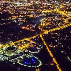 Nocny Wrocław z lotu ptaka. Zobacz niezwykłe zdjęcia! [GALERIA]