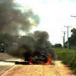 Śmiertelny wypadek na drodze krajowej numer 39 Brzeg Strzelin. Auto stanęło w ogniu, kierowca nie żyje