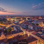 Letni zmierzch nad Wrocławiem z wieży bazyliki świętej Elżbiety [ZDJĘCIE]