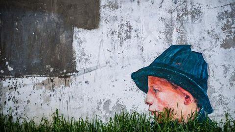 Mural przy m ynowej zdj cie dnia for Mural bialystok dziewczynka z konewka