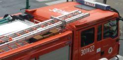 Białystok: Pożar autobusu na wiadukcie Dąbrowskiego. Uważajcie na utrudnienia!