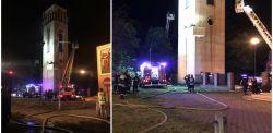 Łódź: Pożar kościoła św. Franciszka z Asyżu. Zapaliła się wieża