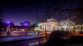 Zimowy Wieczór Światła 2017 w Łazienkach Królewskich. Piękna iluminacja, lampiony i koncert