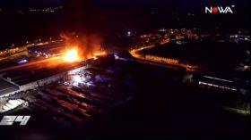 Ogromny pożar w Gorlicach: Paliła się sortownia śmieci [WIDEO NOWA TV 24 GODZINY]