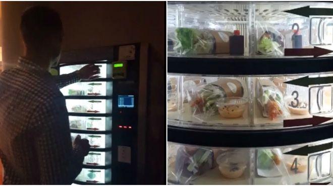 Na łódzkich uczelniach niegdyś były automaty z napojami i słodyczami, a teraz... z sushi [WIDEO]