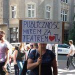 Protest w Teatrze Polskim we Wrocławiu. Nie chcą nowego dyrektora [WIDEO, GALERIA, AUDIO]