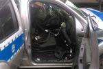 Pociąg uderzył w radiowóz na przejeździe kolejowym