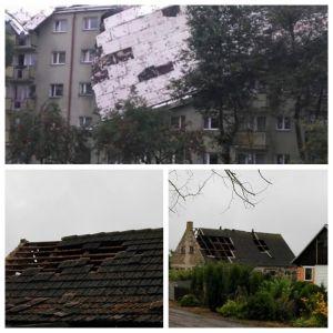 Gwałtowna burza nad Bydgoszczą. Wiatr w porywach do 100 km/h [WIDEO, ZDJĘCIA]
