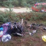 Makabryczny wypadek w okolicach Gorzowa. Kierowca wyciągnięty z bagażnika