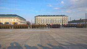 Promocja żołnierzy rezerwy na placu Piłsudskiego