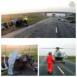 Cztery osoby ranne po czołowym zderzeniu na drodze krajowej 90